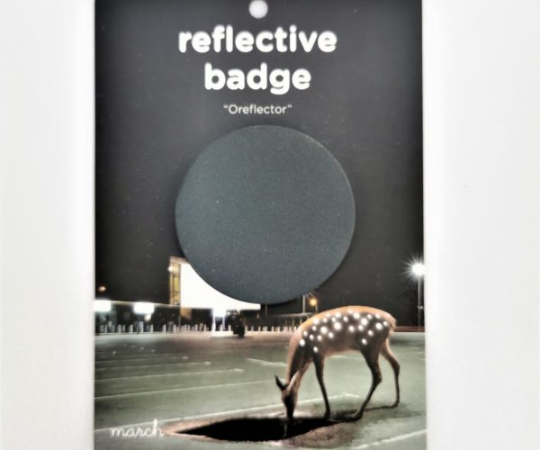 Reflective Badge – Svart, Stor