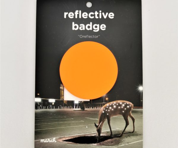 Reflective Badge – Oransje, Stor