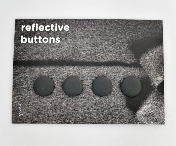 Reflective Buttons – 4 Stk, Svart