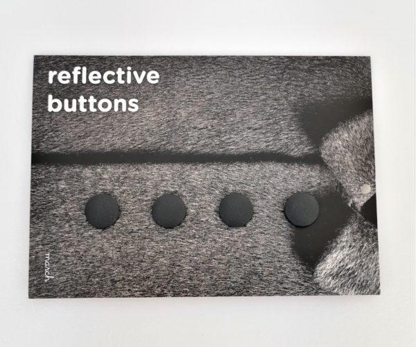 Reflective Buttons – 4stk Små, Svart