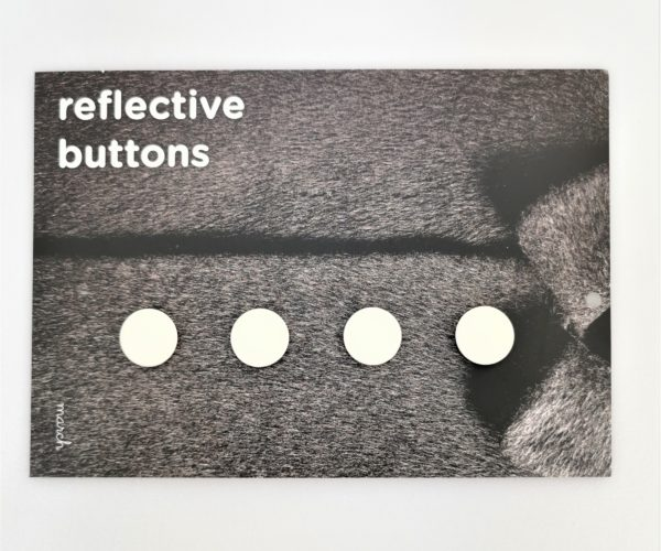 Reflective Buttons – 4stk Små, Hvit