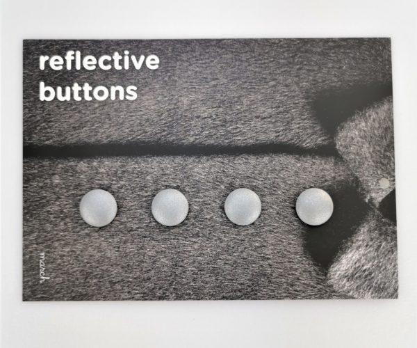 Reflective Buttons – 4stk Små, Sølvgrå