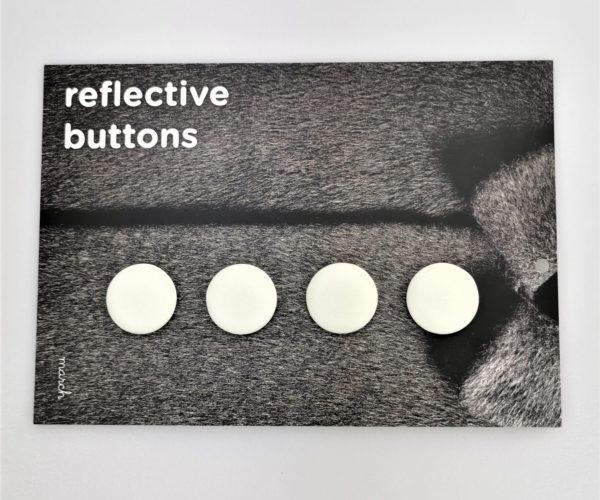 Reflective Buttons – 4stk, Hvit