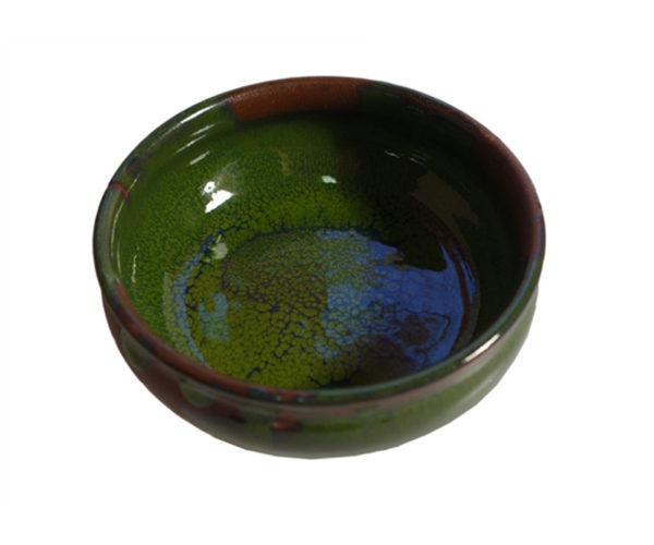 Keramikkskål Med Grønn Glasur