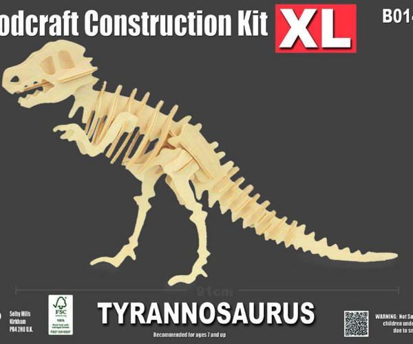 Byggesett I Tre -Tyrannosaurus XL