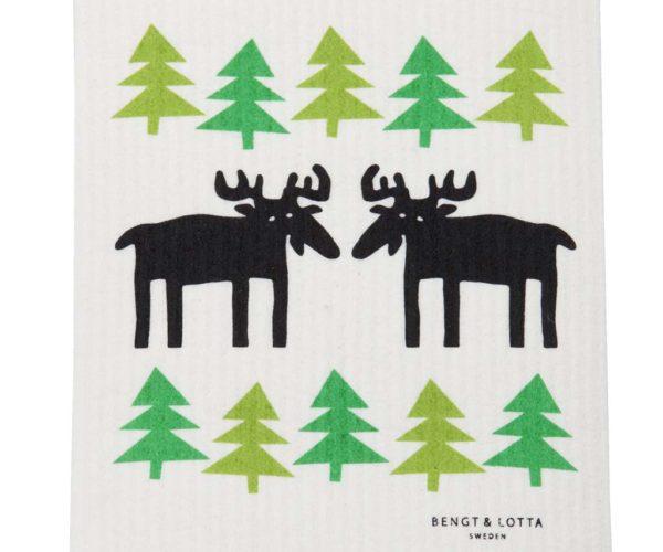 Kjøkkenklut – Elg I Skogen